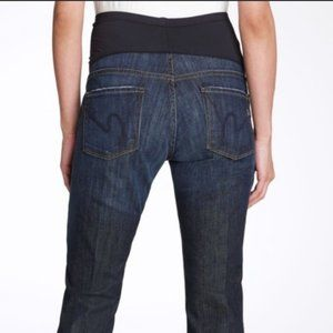 Citizens Of Humanity Sz 26 Maternity Cropped Jeans